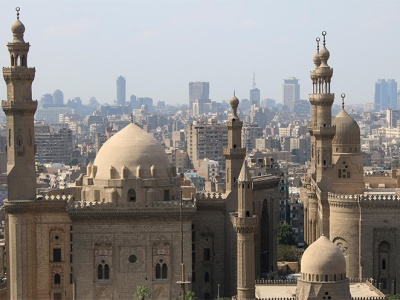 Panoramic view of the inarets of Cairo.