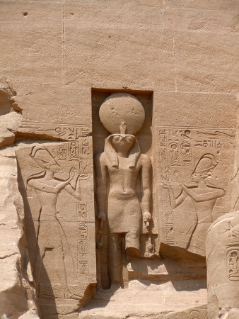 Ra Horakty (Sun God), Temple of Rameses - Abu Simbel, Egypt, Abu Simbel, Egypt