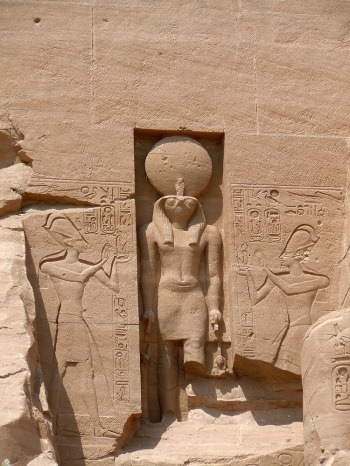 Ra Horakty (Sun God), Temple of Rameses - Abu Simbel, Egypt, Abu Simbel, Egypt