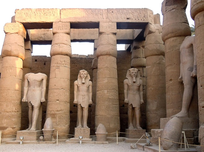 Ramesses II statues in Luxor Temple