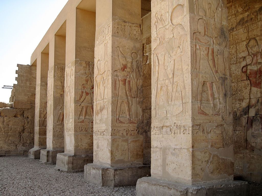 External reliefs, Abydos Temple