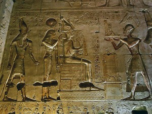 Egyptian temple art