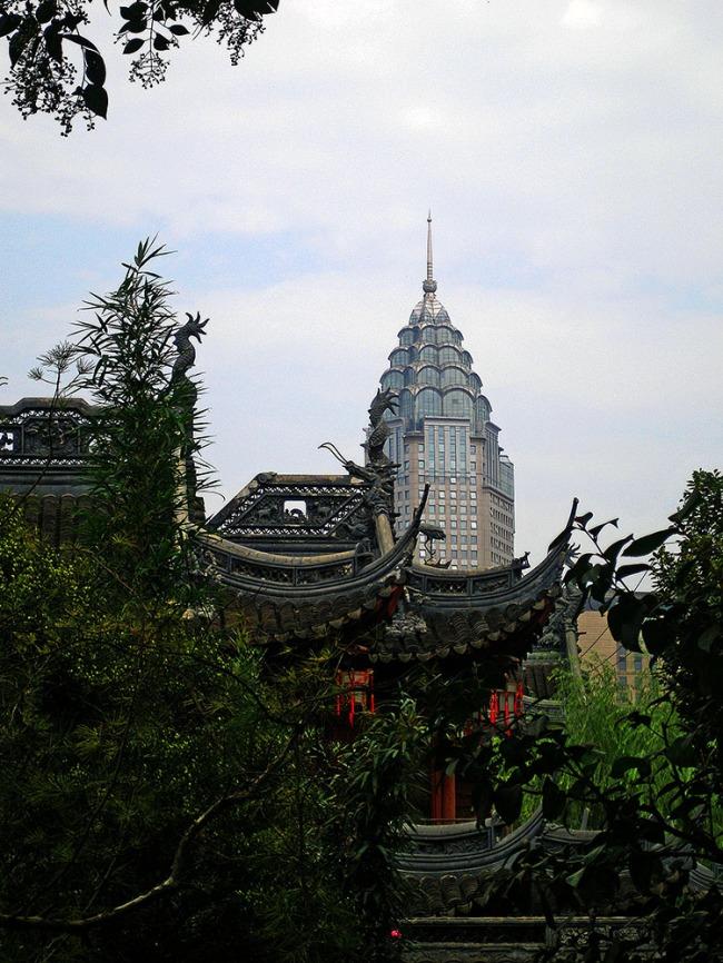 Jin Mao Tower from the Yu Yuan Garden - Shanghai, China