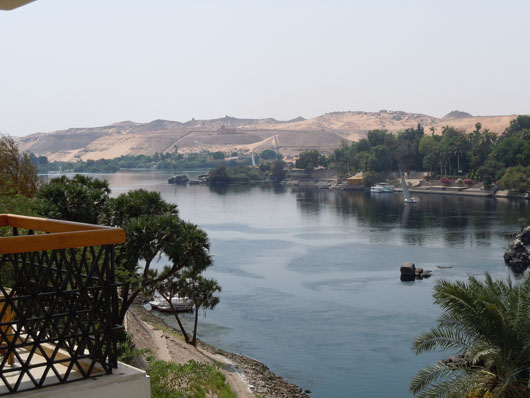 View from room - Aswan, Egypt