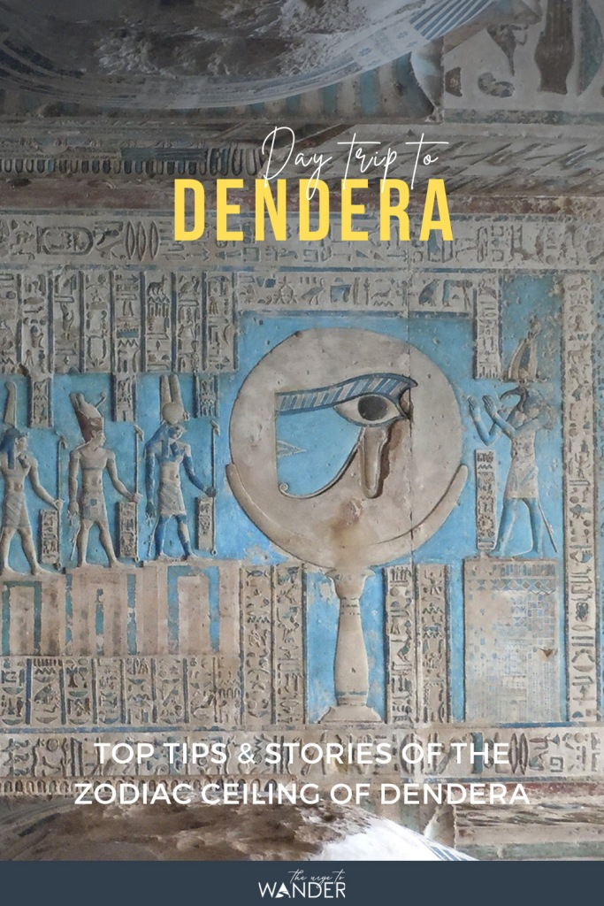 Day trip to Abydos and Dendera  - Part II:  Photo feature on the Temple of Dendera with its incredible zodiac ceiling and Hathor headed columns | Photos | Stories | Tips on getting there |   #Egypt #PlacesToSee #AncientEgypt ##EgyptTemples #EgyptianPaintings