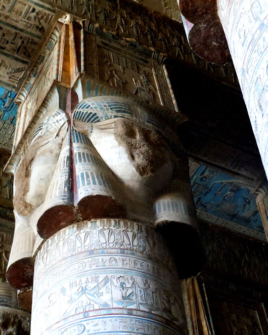 Hathor column capital - Dendera