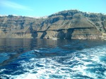 View of Fira from our boat to Nea Kameni