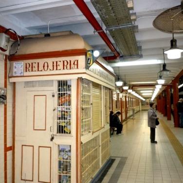 Estacion Peru still retains most of its original decor!