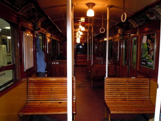 An original wooden car of the A line!