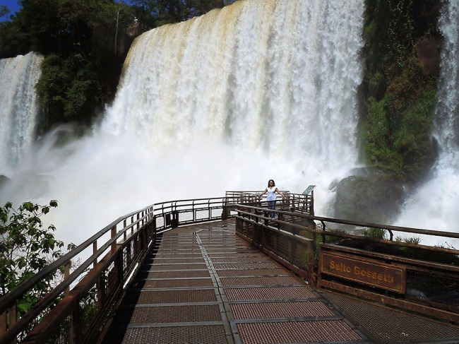 Under the falls!! - Iguazu National Park, Argentina