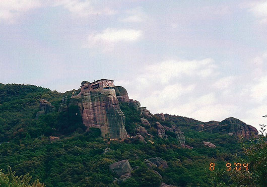 Side view Varlaam Monastery