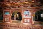 Hand painted interior, Samode Palace