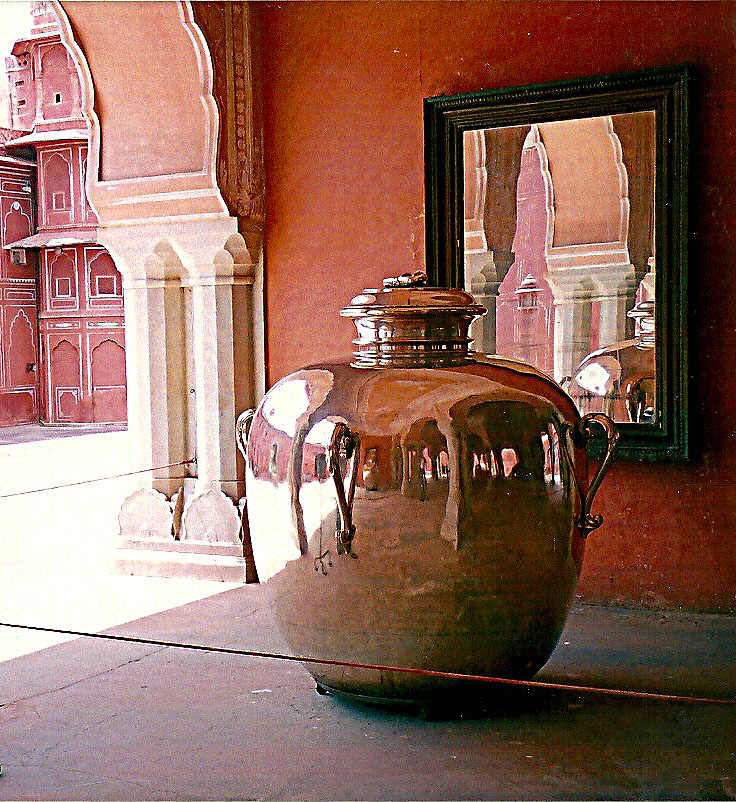 The largest silver object in the world! Specially made to order for Maharaja Sawai Madho Singh II, to carry water from the Ganges to drink on his trip to England for the  coronation of Edward VII!