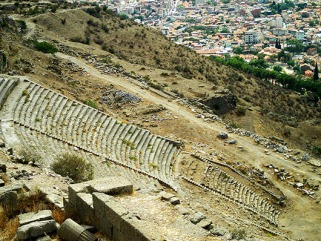 One of the steepest theatre's in the ancient world!