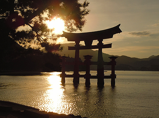 Torii, Itsukushima Shrine - Japan