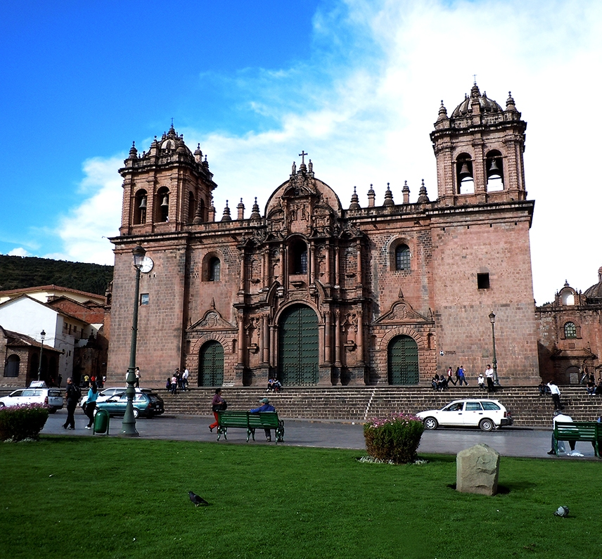 Cathedral of Santo Domingo was built above the ruins of Inka Wiraqocha's palace 'Kiswar Kancha'