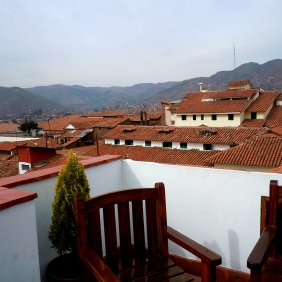 View of rooftops from our terrace - Qosqo, Peru
