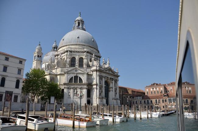 Santa Maria della Salute from a vaporetto
