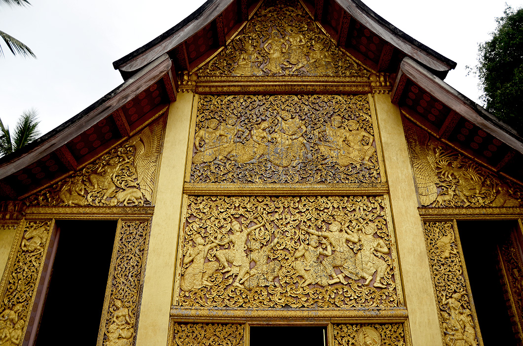 Gilded panels of the Carriage house