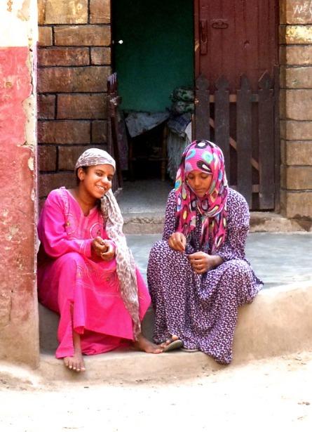 March - Friends, Nubian village, Aswan