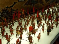 Battle scenes in the museum