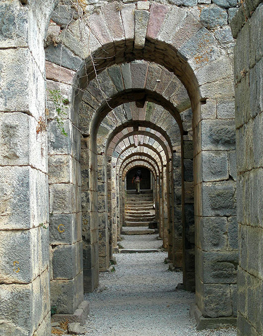 Pergamom, Turkey - Arches under Temple of Trajan