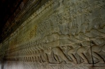Churning of the ocen Bas relief at Angkor Wat