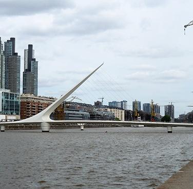 Puente de la Mujer or Women's bridge, Puerto Madero - Buenos Aires, Argentina