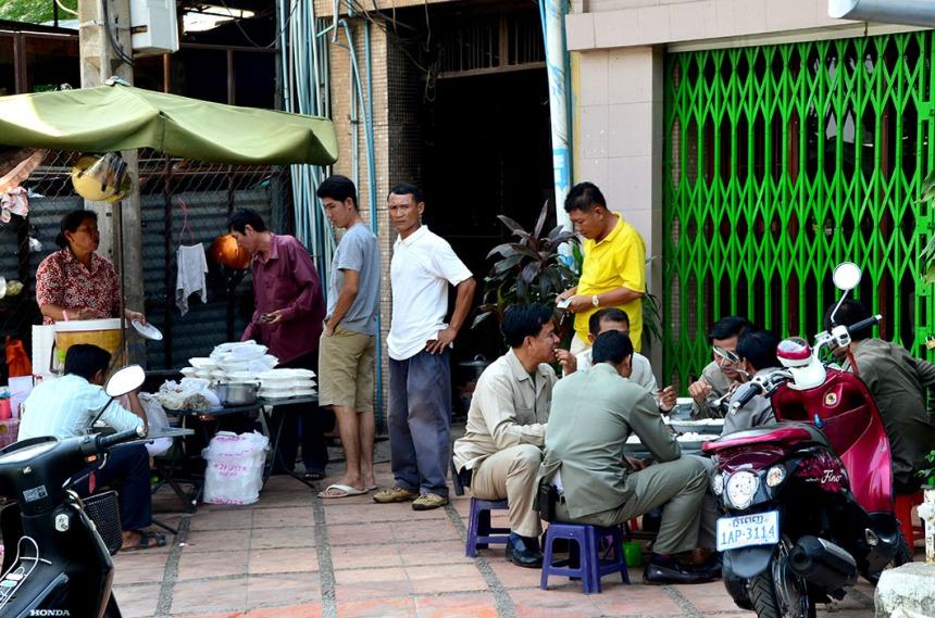 Lunctime in Phnom Penh