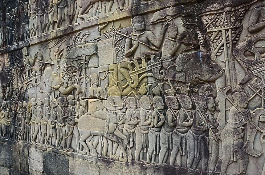 Bas relief, Bayon Temple