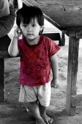 Little boy, Weaving village, Luang Prabang