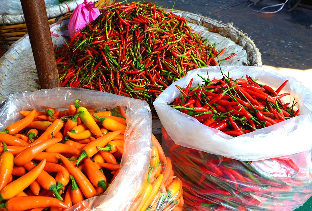 Chilies - Pak Klong Talat (Giant Flower Market