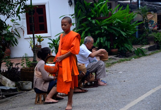 Alms giving ceremony - Luang Prabang, Laos