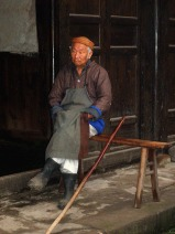 Old buthcher - Laitan ancient town, China