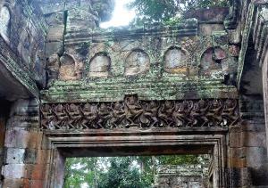 Dancing apsara frieze, in the apsara hall, Preah Khan - Siem Reap, Cambodia