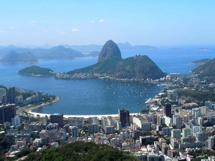Praia de Botafogo from Corcovado