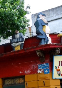 Tango signage, La Boca - Buenos Aires, Argentina