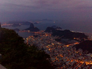 View from Corcovado at dusk