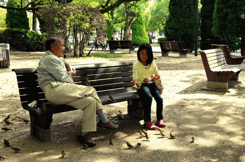 Grandfather & Granddaughter in Hiroshima