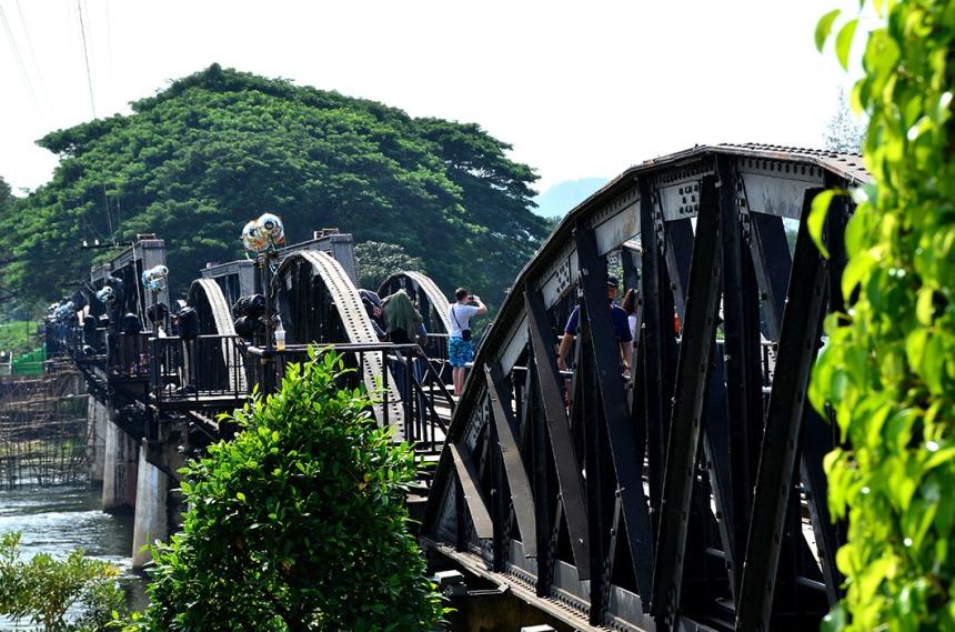 The bridge on the 'river Kwai'