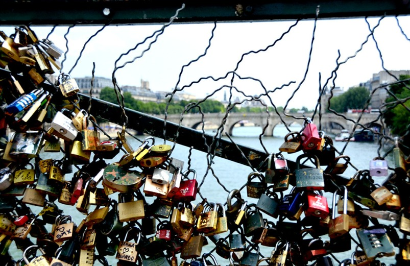 Locks of love on the Pont des Arts - Paris