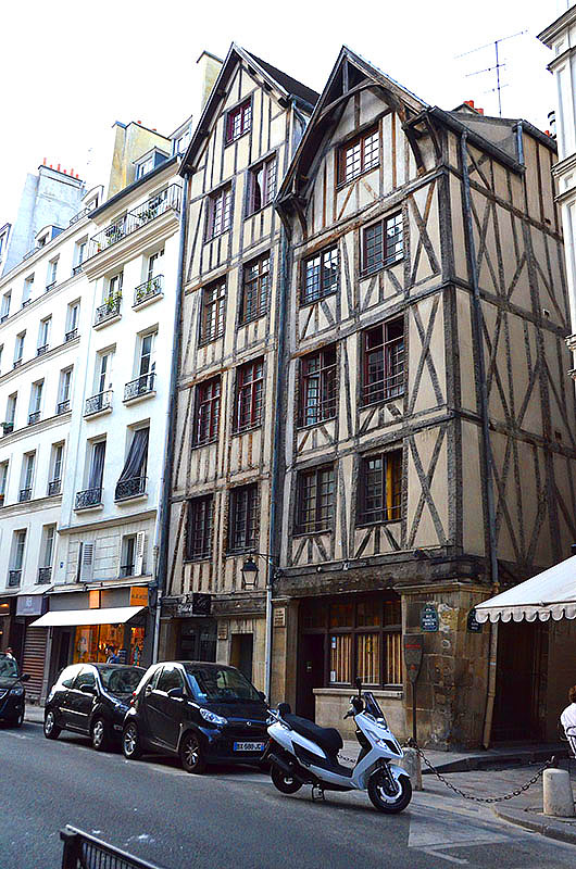 Medieval Houses in the Marais, Paris