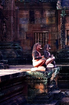Temple Guardians, Banteay Srei - Siem Reap, Cambodia