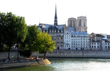 View from across Pont Louis Philippe, Paris