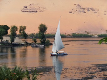 Felucca on the Nile - Aswan, Egypt