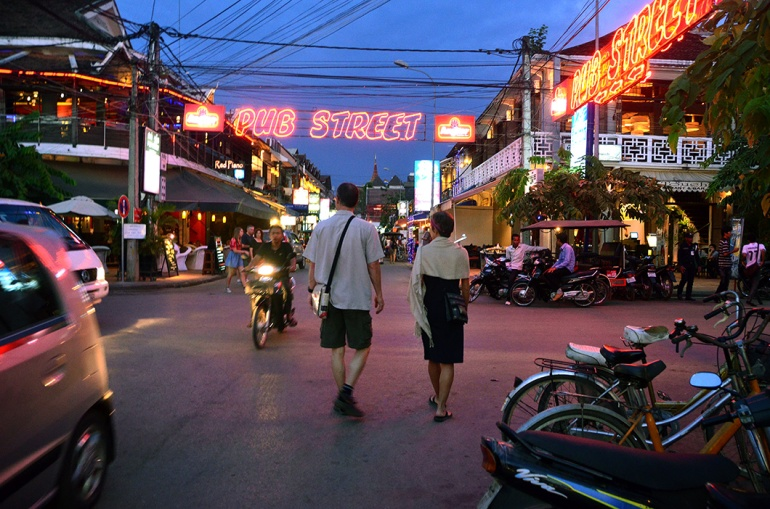 Walking to Pub Street- Siem Reap, Cambodia