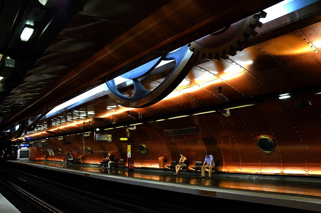 Interior, Arts et Métiers metro stop,