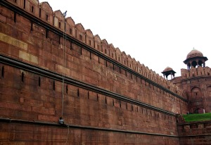 Workers at the Red Fort