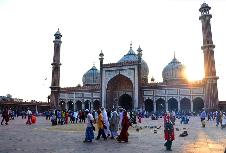 Jama Masjid at sunset