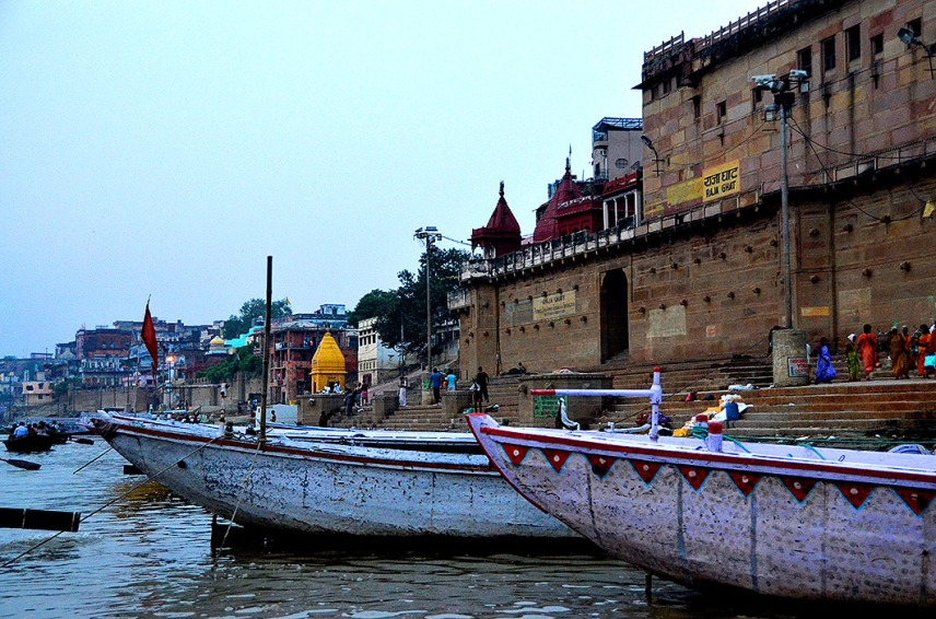 Morning boat ride on the Ganges - Varanasi India